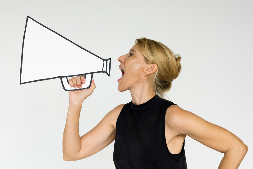 Businesswoman doing brand marketing
