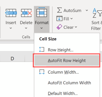 Autofit Row Height