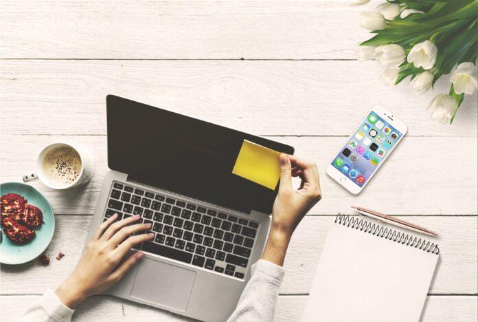 laptop, computer, business