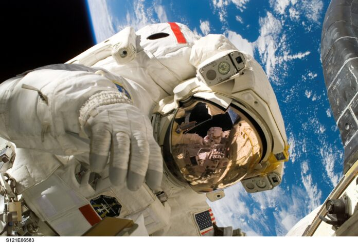 astronaut, space suit, space