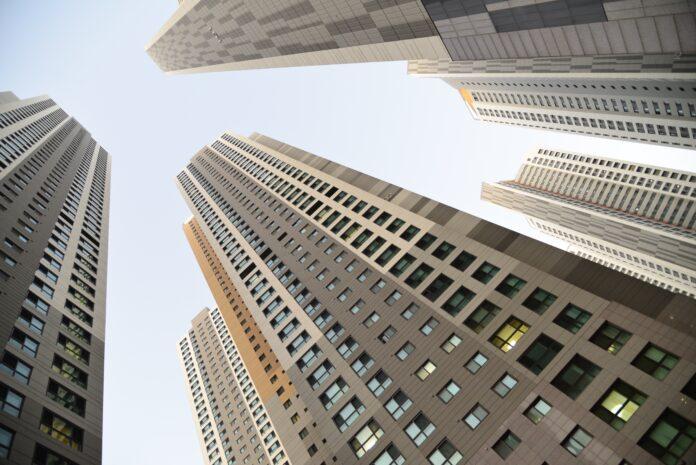 city, building, sky