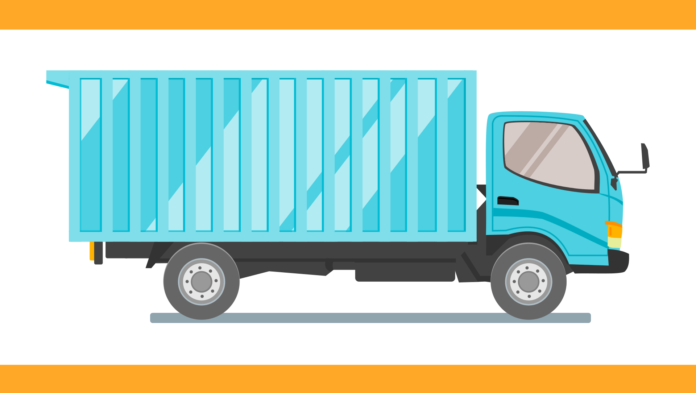 truck, box, car