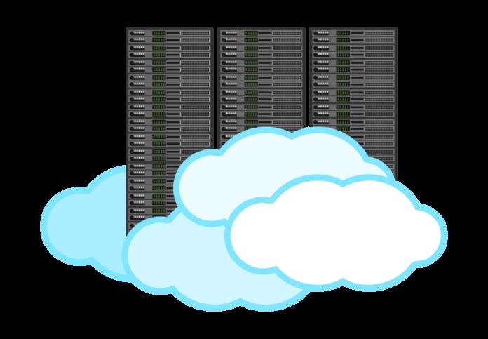 cloud computing, black, white